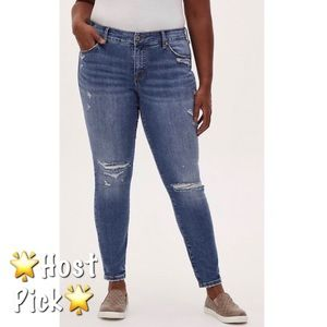 🆕Torrid Vintage Stretch Mid Rise Skinny Jeans 18